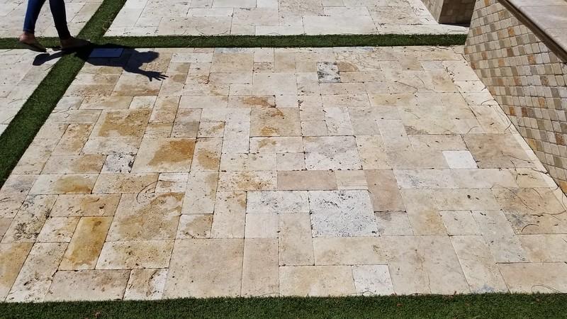 3 piece pattern, Ancient Castle tumbled