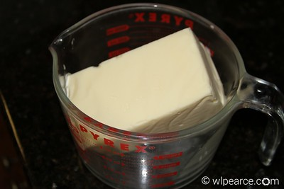 Now, the fun part... melt two pounds of butter per turkey in the microwave.  Don't worry... you're not going to actually eat two pounds of butter!  You'll save yourself a lot of unwrapping work if you purchase one pound butter blocks like the one pictured here, rather than sticks.