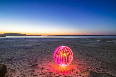 This orb was lightpainted using my butchered P7 Lenser with some Quality St wrappers for colour, swung around on the end of a dogs lead...