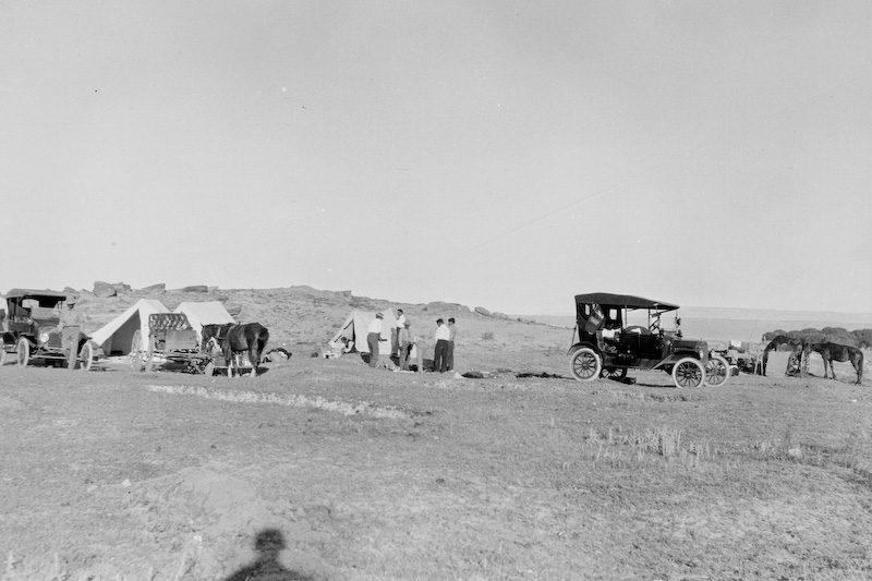 3.25x5.5 negatives shot by Howard Clark on the Navajo Reservation near Window Rock, AZ and Fort Defiance, AZ, ca. 1913-35 while he was a Presbyterian minister there. These negatives belong to his daughter, Betty Von Gausig.