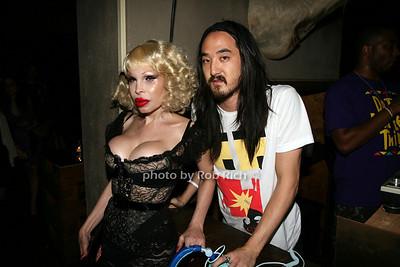 Amanda Lepore, DJ Steve Aioki
