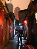 Jack Xu taking photos at night in the village