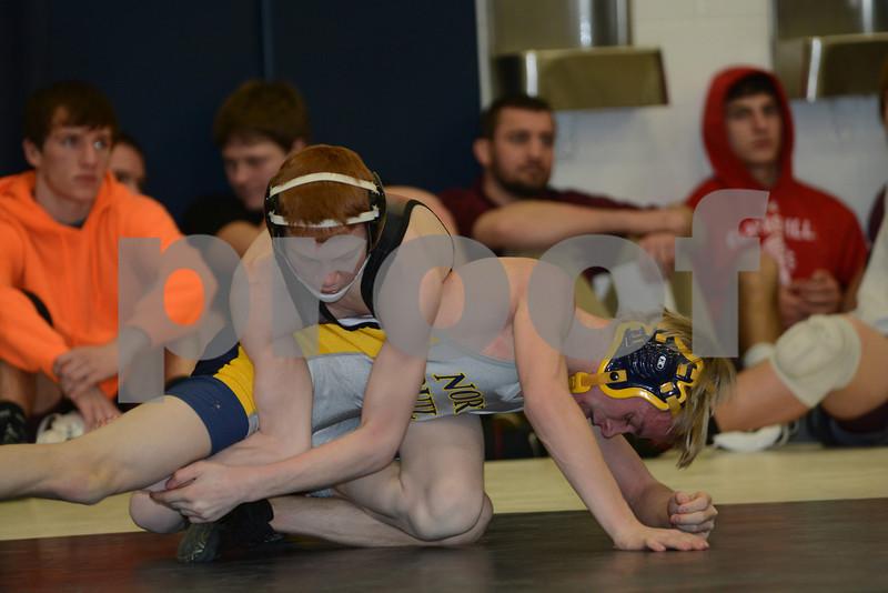 2014 Hudson Sectional  <br /> 106 Semifinal - Logan Johnson (Aplington-Parkersburg) 33-7 won by tech fall over Alan Peters (North Butler, Greene) 26-10 (TF-1.5 0:00 (16-0))