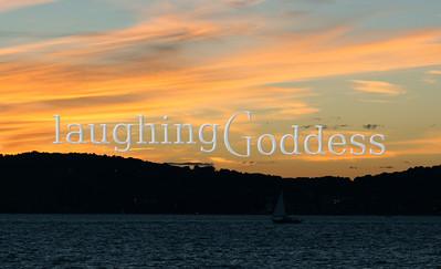 Sunset sail on the Hudson River.