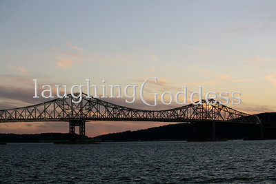 Tappan Zee Bridge at sunset.
