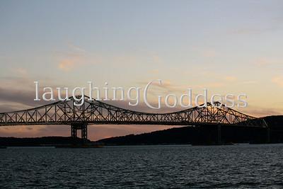 Tappan Zee Bridge at sunset.