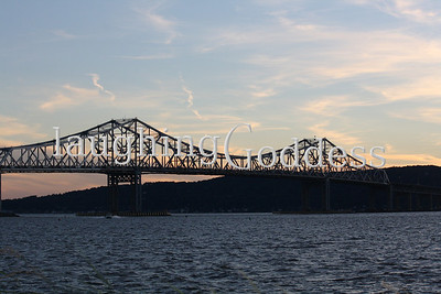 Tappan Zee Bridge at dusk.