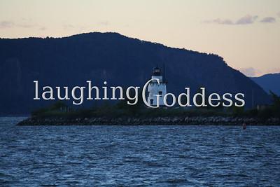 Sleepy Hollow Lighthouse on the Hudson River.
