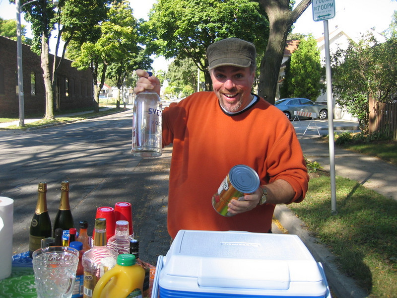 Our neighborhood bartender, Brian.