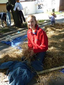 Hitting the hay.