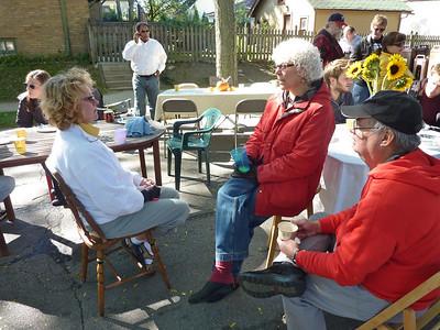 Rosemary chats up Debra.