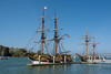 The tall ships Lady Washington and Hawaiian Chieftain visit Eureka regularly, October 2014. [Eureka 2015-04 001 Humboldt-CA-USA]