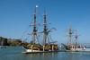 The tall ships Lady Washington and Hawaiian Chieftain visit Eureka regularly, October 2014. [Eureka 2015-04 001 Humboldt-CA-USA]