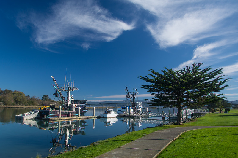 A beautiful Fall morning in Humboldt Bay, near the Eureka waterfront, October 2014. [Eureka 2014-10 007 Humboldt-CA-USA]