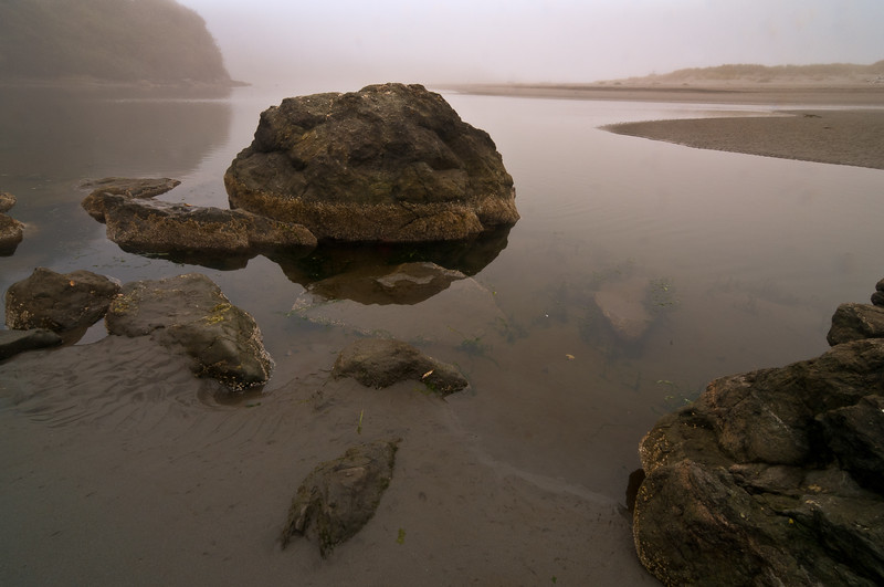 Moonstone Beach, Humboldt County, California, at dawn. September 2011.