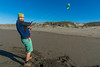 Samuel Price flying his kite at the beach in Humboldt County, December 2014. [Lanphere 2014-12 016 Humboldt-CA-USA]