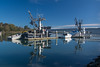 Fishing boats moored near the Eureka waterfront, October 2014. [Eureka 2014-10 008 Humboldt-CA-USA]