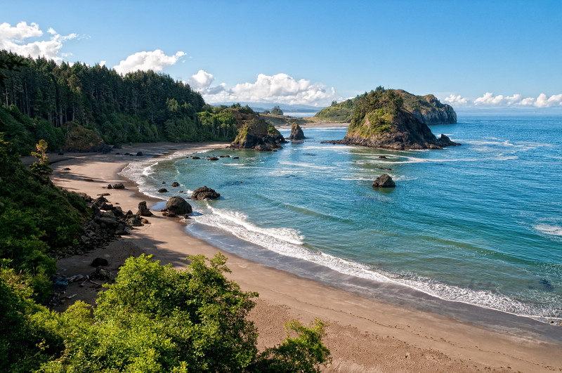 College Cove, looking south to Trinidad, Humboldt, California, June 2012.
