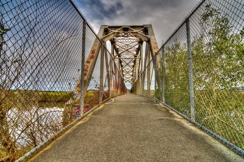 Hammond Bridge, over the Mad River, Humboldt County, California. October 2010.