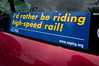 Supporting the way to sustainability for California's transport system. Seen on a car in Arcata, Humboldt, May 2012.