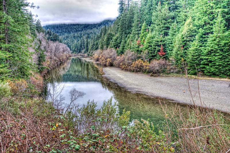 Eel River, near Avenue of the Giants, northern California, December 2011.