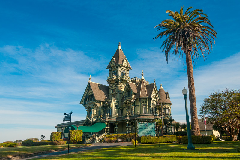 The Carson Mansion in Eureka, now owned by the Ingomar Club, November 2011. [Eureka 2011-11 048 Humboldt-CA-USA]