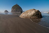 Camel Rock at Luffenholtz Beach, Humboldt County, USA. October 2010