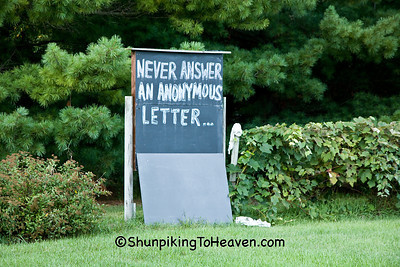 Message from a Roadside Philosopher, Iowa County, Wisconsin