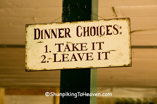 A Little Humor from the Cook, Oark General Store, Johnson County, Arkansas
