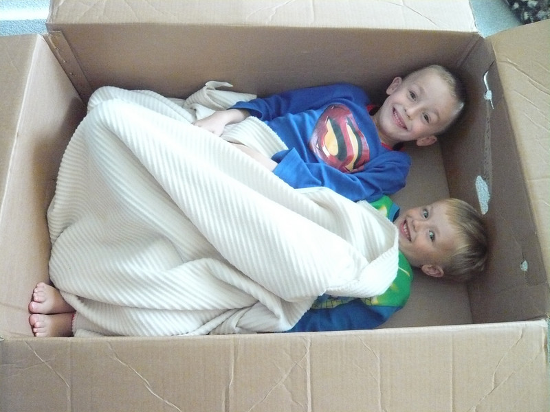 Never leave a box lying around when there are kids in proximity!