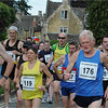 Crowded Start at Humph's Hilly Half 2011..... The first big hill awaits!