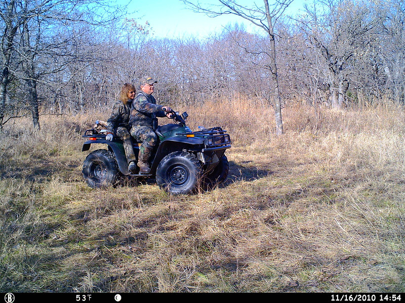 Trail Camera picture of me and Ernie.