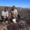 My Iranian  host and friend Rashid Jamsheed and I pose with my fine urial ram taken on the run with one shot from my .270.