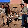 At our hunting camp with three fine urial rams.