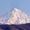 Mount Damavand about 60 miles north of Tehran.