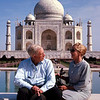 Dad and mother at the Taj Mahal during one of their hunts in India.