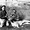 Dad and Dave Christensen with Dad's first and only Northern whitetail, taken near the Salmon River.