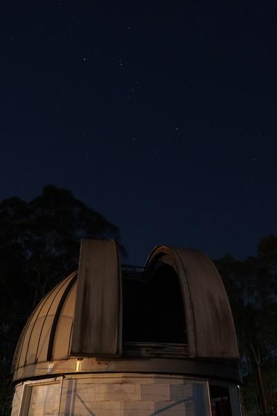 "Orion over the Macquarie University 16"" telescope dome"