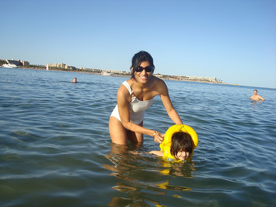 Anjali swimming in the Red Sea.