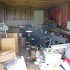 16. shed is a mess. All the stuff on the floor used to be on shelves
