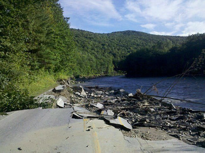 Route 107, west of Toziers