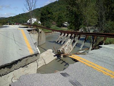 Barnard Bridge on Route 12 - after Irene