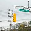 Dangling traffic light