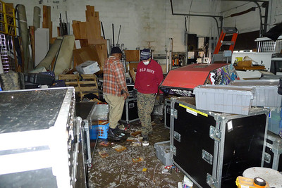 Hurricane Sandy Damage in office and warehouse.