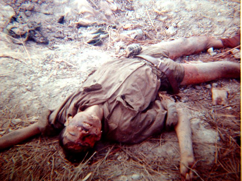 NVA killed as he got up to the side of B-32