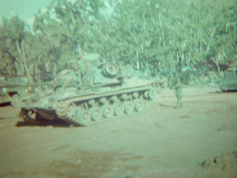 This is an M-48A3, this was at our Platoon area in Lai Khe.