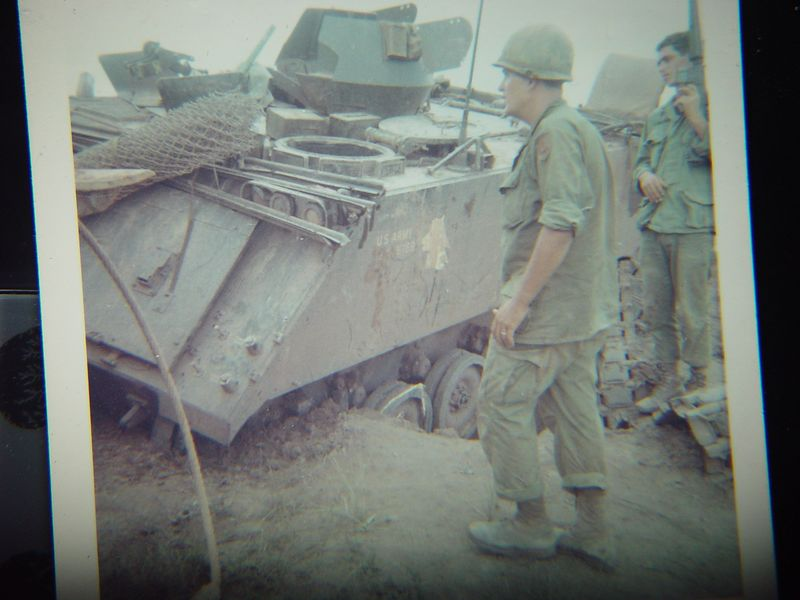 This ACAV was destroyed by a large land mine.