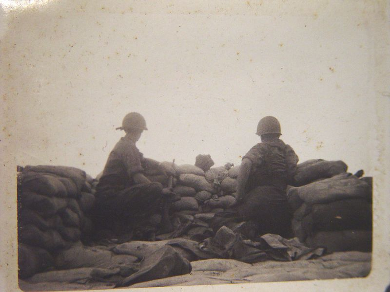 This was taken one of the first times I pulled guard duty on the Phu Loi, perimeter, late June of 1967.
