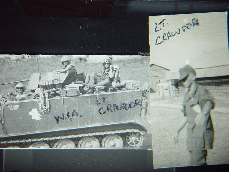Lt. Crawford, lost an eye in a battle near Phu Loi.