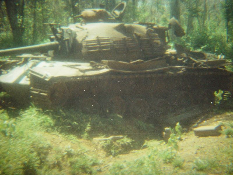 M48A3, destroyed in a battle near Loc Ninh.